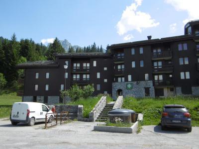 Location au ski Studio 2 personnes (002) - Résidence le Gollet - Valmorel - Extérieur hiver