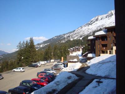 Location au ski Studio 3 personnes (008) - Résidence le Pierrafort - Valmorel - Extérieur hiver