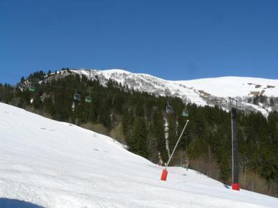 Location au ski Studio 2 personnes (051) - Résidence le Portail - Valmorel - Extérieur hiver