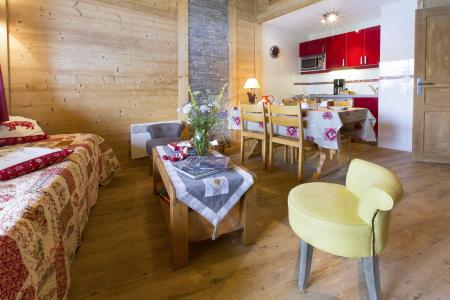 Alquiler al esquí Apartamento dúplex 4 piezas 8 personas - Résidence le Sappey - Valmorel - Sofá