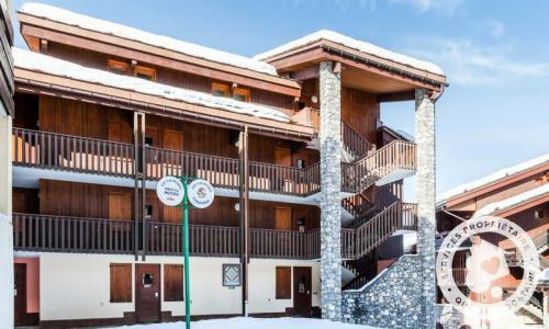 Vacances en montagne Studio 4 personnes (Confort 28m²) - Résidence Planchamp et Mottet - Maeva Home - Valmorel - Extérieur hiver