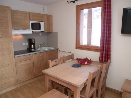 Location au ski Appartement 2 pièces 4 personnes - Residence Les Chalets Des Rennes - Vars - Kitchenette