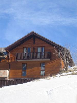 Location au ski Les Chalets Le Bouquetin Ii - Vars - Extérieur hiver
