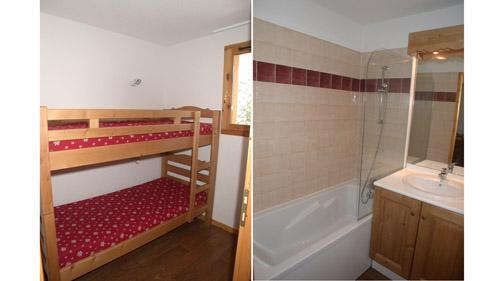 Rent in ski resort 2 room apartment 6 people (U003) - Résidence Ecrin des Neiges - Vars - Bunk beds