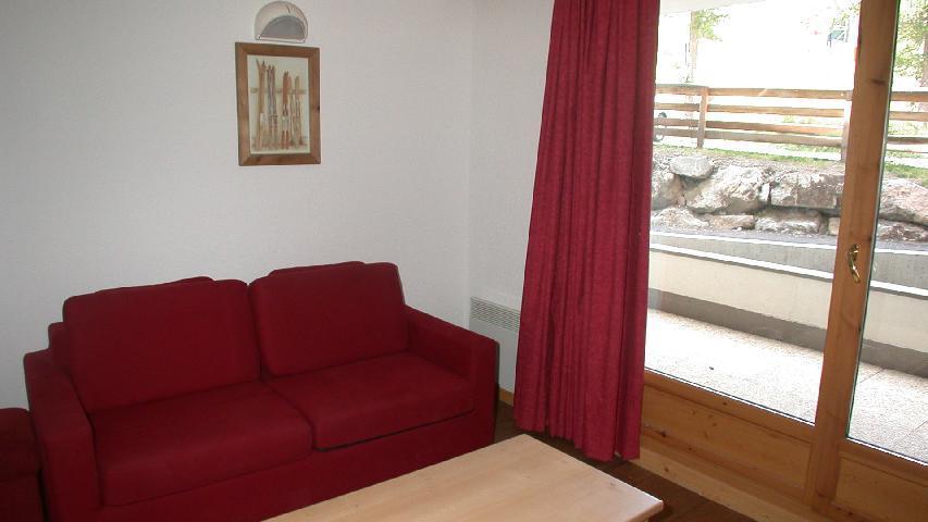 Skiverleih 2-Zimmer-Appartment für 4 Personen (U002) - Résidence Ecrin des Neiges - Vars - Sofa