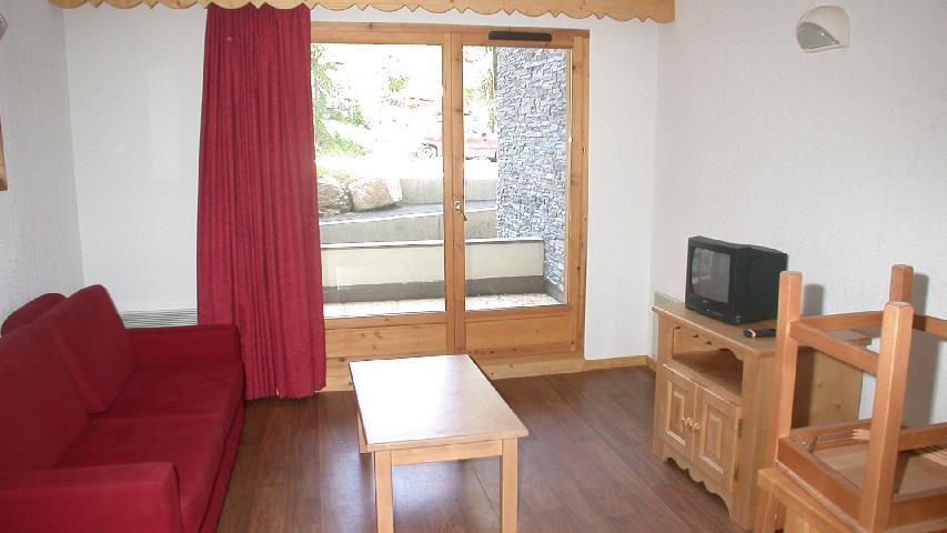 Skiverleih 2-Zimmer-Appartment für 4 Personen (U002) - Résidence Ecrin des Neiges - Vars - Wohnzimmer