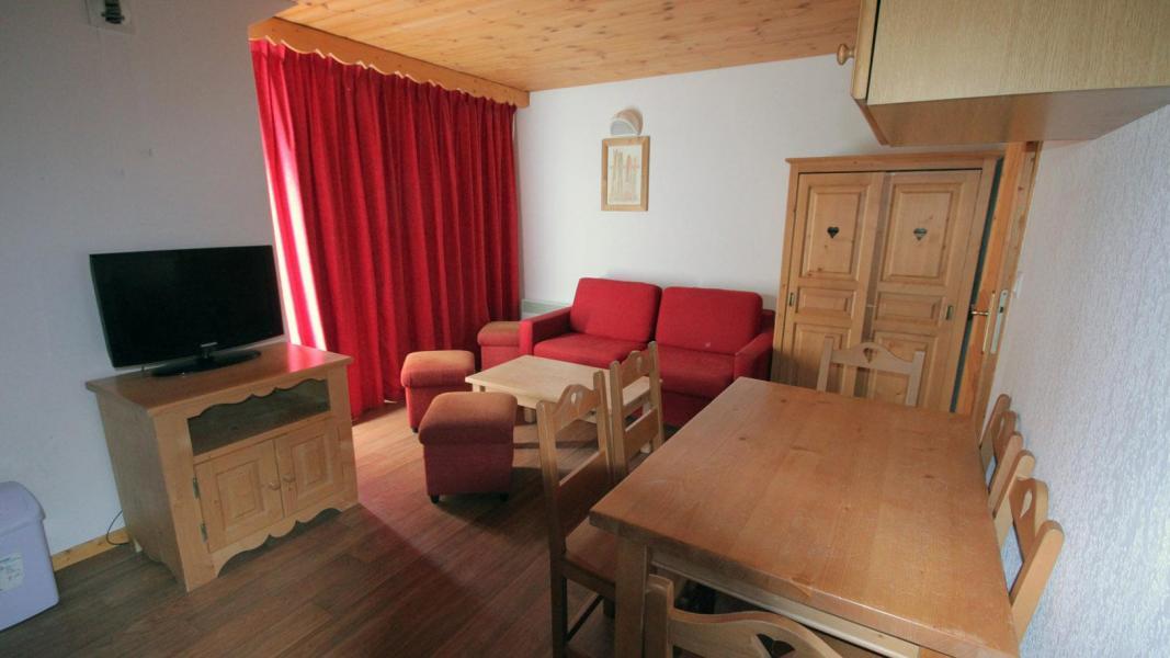 Skiverleih Résidence Ecrin des Neiges - Vars - Wohnzimmer