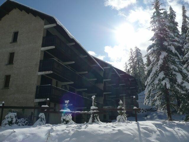 Wakacje w górach Studio z alkową 4 osoby (104) - Résidence le Christiana - Vars - Zima na zewnątrz