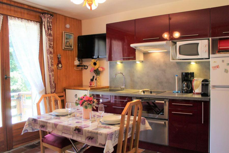 Rent in ski resort Studio 3 people (002) - Résidence les Chabrières - Vars - Living room