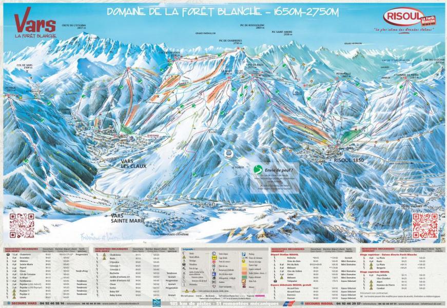 Location au ski Appartement 2 pièces coin montagne 6 personnes (9) - Residence Marmottons - Vars - Plan