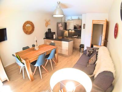 Rent in ski resort 2 room apartment cabin 6 people (HDRM18) - Le Hameau des Rennes - Vars - Living room