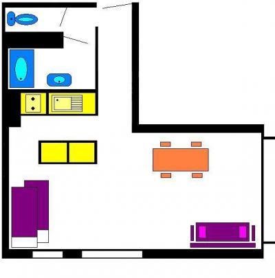 Rent in ski resort Studio sleeping corner 4 people (401) - Résidence l'Olan - Vars