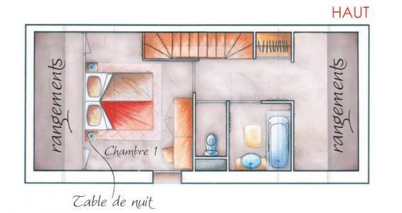 Location au ski Appartement duplex 2-3 pièces 6 personnes - Résidence les Chalets des Rennes - Vars - Plan