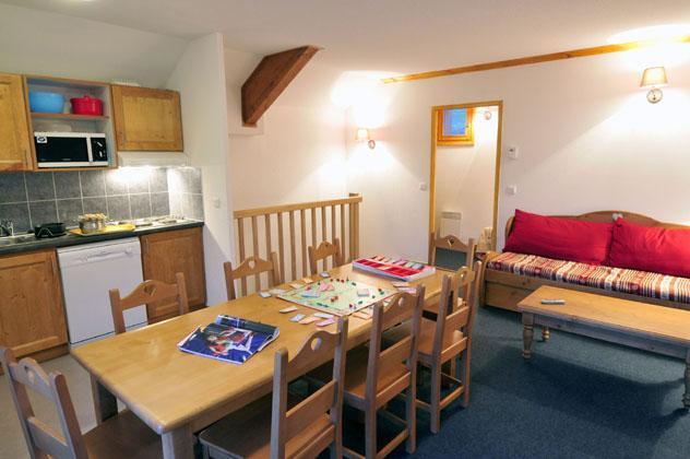 Location au ski Residence Les Valmonts De Vaujany - Vaujany - Coin repas