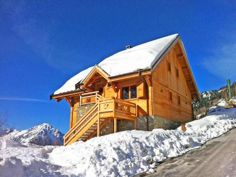 Location au ski Chalet Ysengrin - Vaujany - Extérieur hiver
