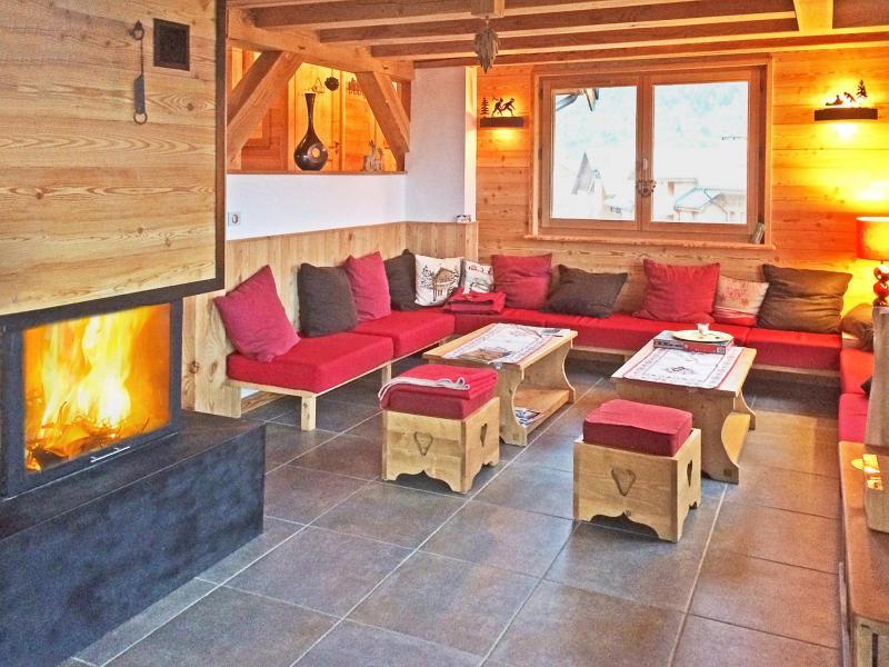 Location au ski Chalet Ysengrin - Vaujany - Cheminée