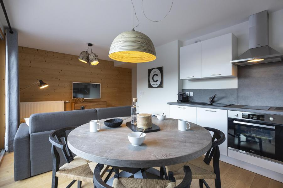 Аренда на лыжном курорте Апартаменты 2 комнат кабин 6 чел. - Résidence Le Saphir - Vaujany - Столова&