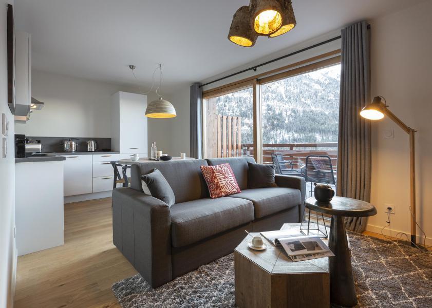 Аренда на лыжном курорте Апартаменты 2 комнат кабин 6 чел. - Résidence Le Saphir - Vaujany - Салон