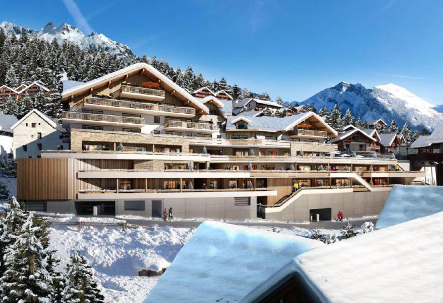Location au ski Résidence Le Saphir - Vaujany - Extérieur hiver