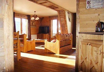 Location au ski Chalet Le Grenier De Germaine - Vaujany - Séjour