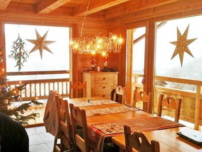 Rent in ski resort Chalet Ysengrin - Vaujany - Dining area