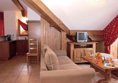 Location au ski Appartement 3 pièces cabine 6-8 personnes - Residence La Cascade De Vaujany - Vaujany - Tv