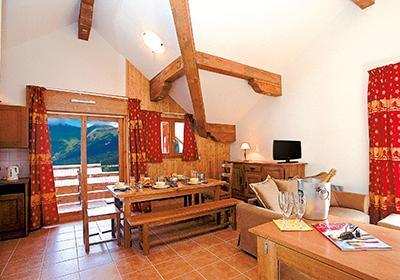 Location au ski Residence La Cascade De Vaujany - Vaujany - Coin repas