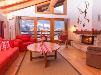 Location au ski Chalet Val de Verbier - Verbier - Coin séjour