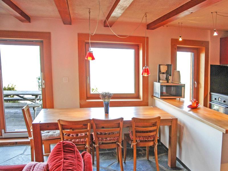 Location au ski Chalet CNY01 - Veysonnaz - Coin repas