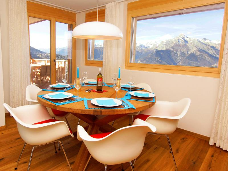 Location au ski Residence Ski Heaven Veysonnaz - Veysonnaz - Salle à manger
