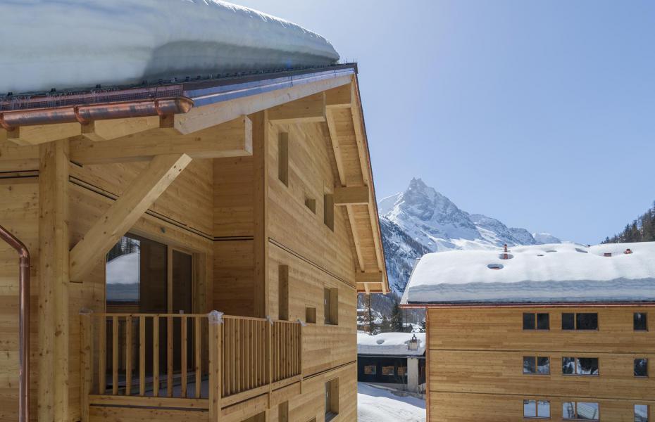 Location au ski Résidence Swisspeak Resorts Zinal - Zinal - Extérieur hiver